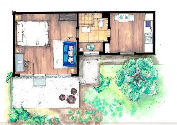 custom airbnb floor plan