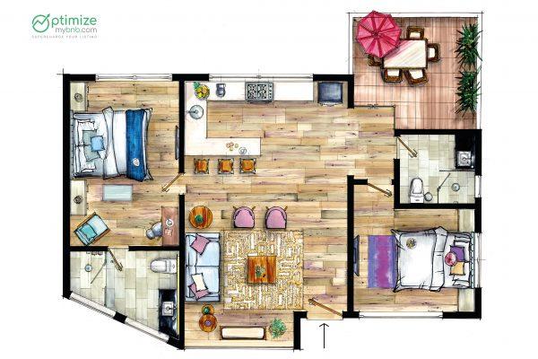 airbnb floor plans online