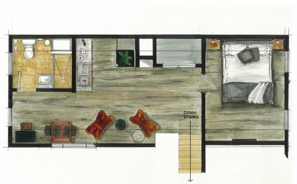 best airbnb floor plan
