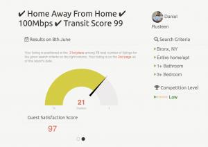 yourporter airbnb ranking report