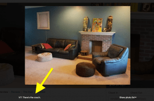 how to write a good photo caption on airbnb