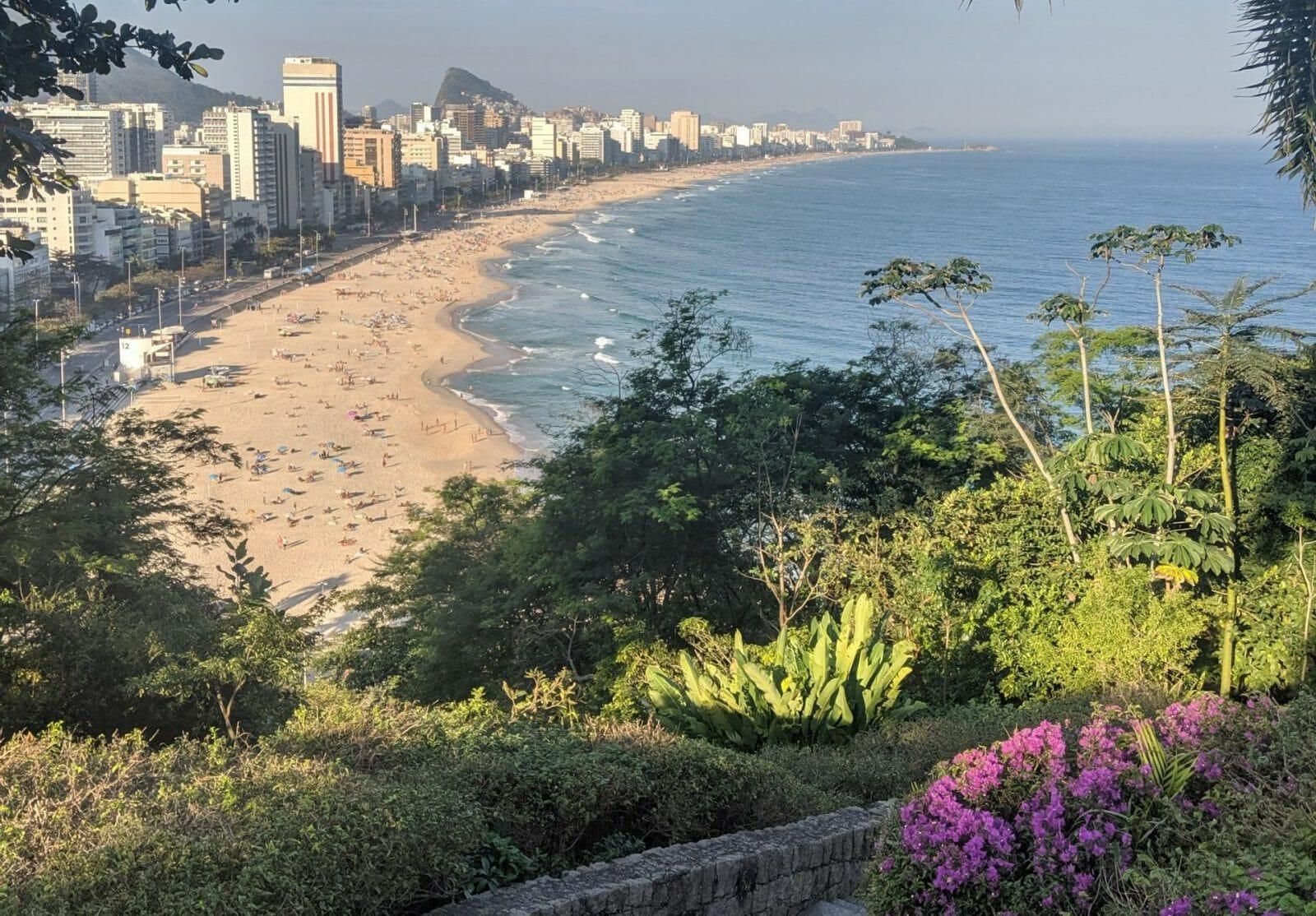 view of leblon and ipanema beach from secret hike rio de janeiro