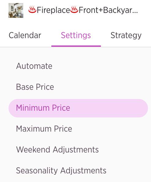 wheelhouse settings tab tutorial minimum price customization
